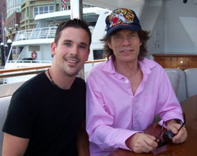 Magic Dave and Mick Jagger on Yacht